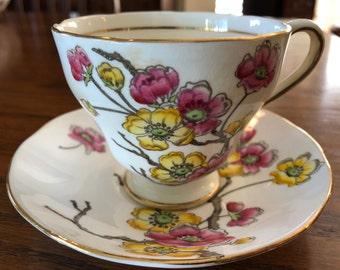 Vintage SALISBURY teacup and saucer