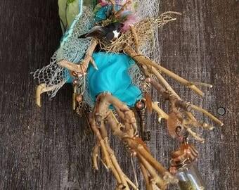 Shakti, Gate keeper, kitchen goddess, Secret garden, spirit art doll,  Ethnic Art, ooak Art Doll, collectible , intuitive art doll