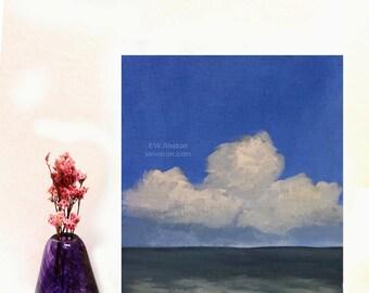 Seascape Painting, Beach House, Ocean Painting, Coastal Decor, Home Decor, Blue Sky, Cloud Painting, Ocean Painting, Winjimir, Wall Art,