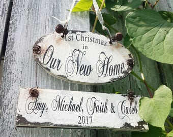 Personalized New Home Christmas Ornament | Custom Address Ornament | Our First Home Christmas Ornament | Housewarming | Realtor Gift Idea