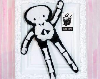 Stuffy Skeleton - super soft minkie fabric plush doll