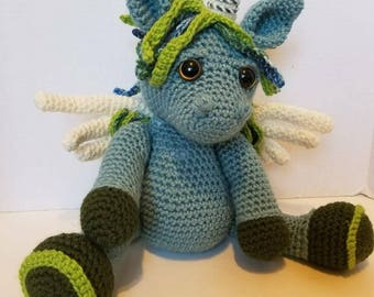 Crocheted Unicorn, Pegasus or Alicorn (Made to Order)