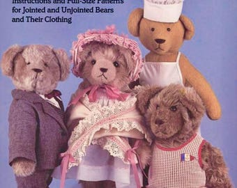 TEDDY BEAR Sewing Pattern Book Make Your Own Teddy Bears Doris King