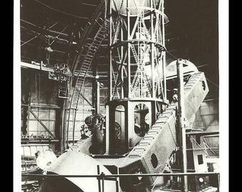 Telescope RPPC Mt Wilson California 1953 Angeleno Real Photo CA Postcard