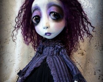 Loopyboopy Southern Gothic Goth Steampunk Art Doll Lolita Celeste