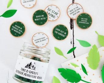 Outdoor Adventures Ideas Personalised Jar - Father's Day Gift - Personalised Father's Day - Adventure Jar