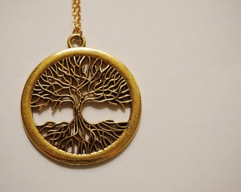 Statement Necklace Tree Necklace Tree Jewelry Fall Necklace Fall Jewelry Pendant Necklace Tree Of Life Necklace Woodland Necklace Gift