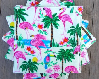 Everyday Napkins - Flamingos + Palm Trees