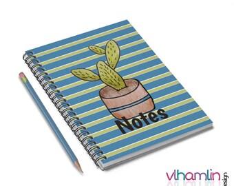 Cactus Notes - Cactus Spiral Notebook - Cactus Notebook - Spiral Notebook