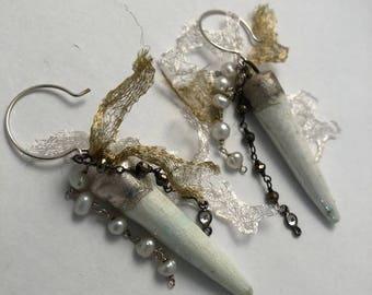 ABO Ceramic Spike Earrings
