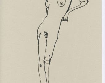 Original Faye Moorhouse Illustration - NUDE LADY
