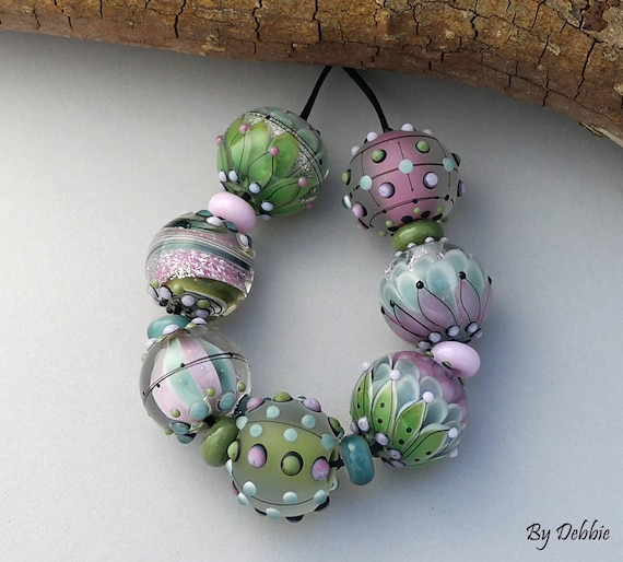 Beads, Lampwork Beads, Lampwork Glass Beads, Artisan Beads Debbie Sanders, Beads For Jewelry, SRA Beads, Jewelry Supplies, Colorful Beads