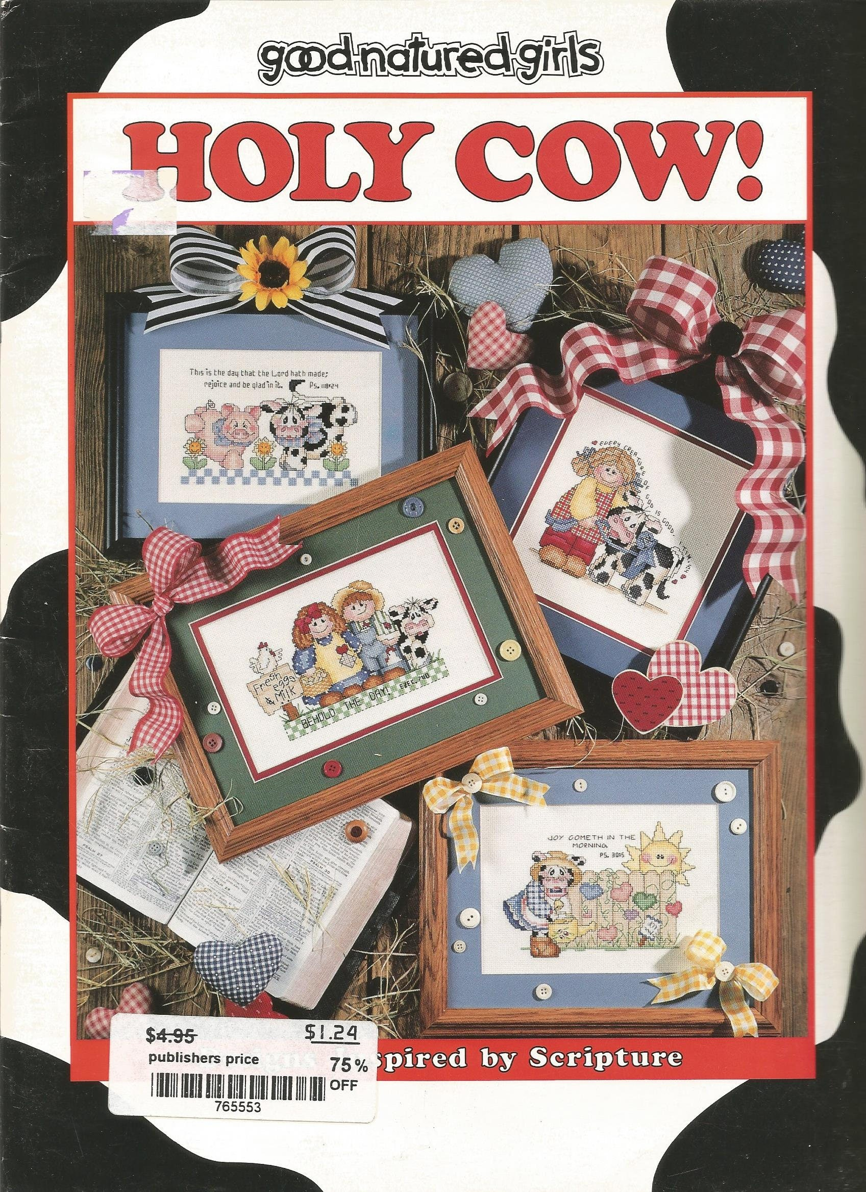 Holy cow cross stitch pattern scriptures religious good 695 jeuxipadfo Images