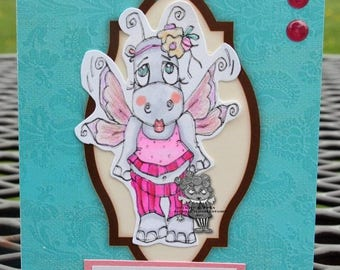 1604 Fairy Hippo Digi Stamp