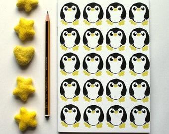 A5 Notebook, Penguin Bird Notebook, Plain Notebook Lined Notebook