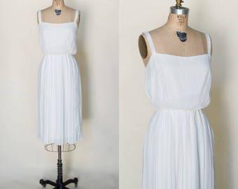 1970s Cream Dress --- Vintage Summer Dress