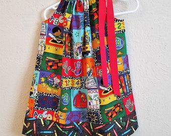 Pillowcase Dress, School Dress, Preschool Dress, Kindergarten Dress, Girls Dresses for School, Back to School Outfit, First Day of School