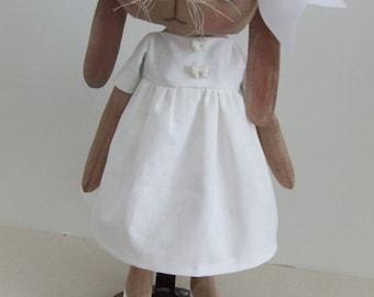 Primitive Folkart Bunny Rabbit Doll