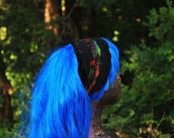 Festival Headband - Womens Headband - Dreadlocks Headband -Boho Headband - Hippie Headband- Black Headband  - Women Hair Wrap - Dread Wrap