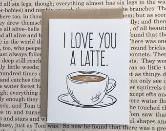 I Love You a Latte Letterpress Card