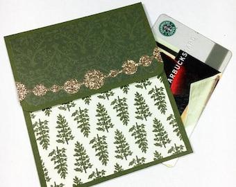 Christmas Gift Card Holder - Holiday Gift Card Holder, Holiday Tip Envelope, Money Card, Gift Card Sleeve