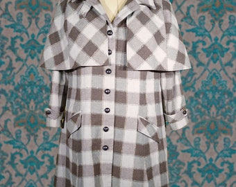 Plaid Caped Coats----An Inverness For Women