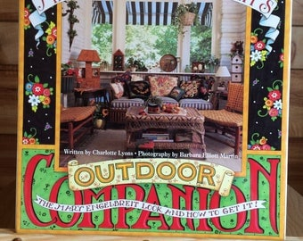 mary engelbreit outdoor companion book vintage 1990s hardback decorating home decor