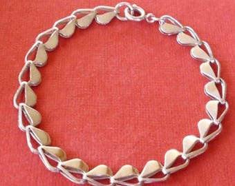 Vintage Heart Link Bracelet