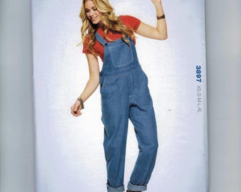 Misses Sewing Pattern Kwik Sew 3897 Denim Chino Overalls Size XS S M L XL UNCUT