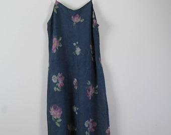 vintage 90's floral slip dress // sportsgirl