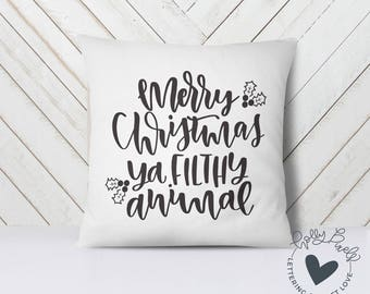Merry Christmas SVG File   Home Alone SVG File   Merry Christmas Ya Filthy Animal   Holiday Cutting File   Christmas Cut File