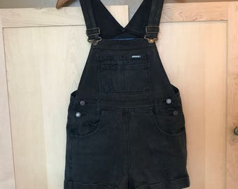 Black Denim Overalls // Faded Jeans // Jordache // 90s Grunge // Hip Hop // Hipster // Festival Clothes // Indie Clothing // XS SMALL