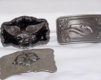 American Eagle Silver Belt Buckle - Vintage