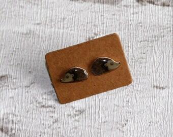 Hedgehog Earrings, Teeny Tiny Earrings, Hedgehog Jewelry, Cute Earrings