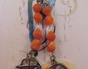 Funky Orange Car Earrings