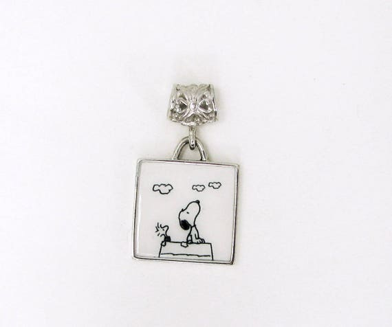 Snoopy and Woodstock Engraved Photo Pendant
