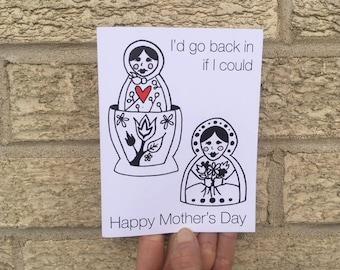 Happy Mother's Day Card - Matrioshka - Funny - Nesting Dolls