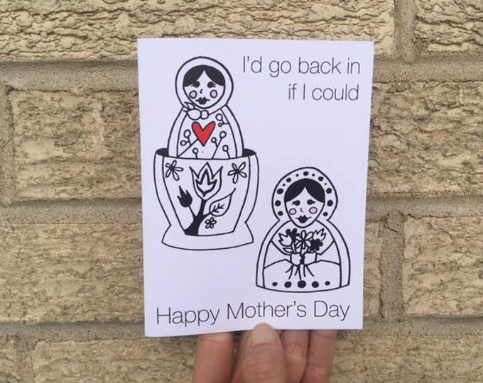 Happy Mother's Day Card - Matrioshka - Funny - Nesting Dolls