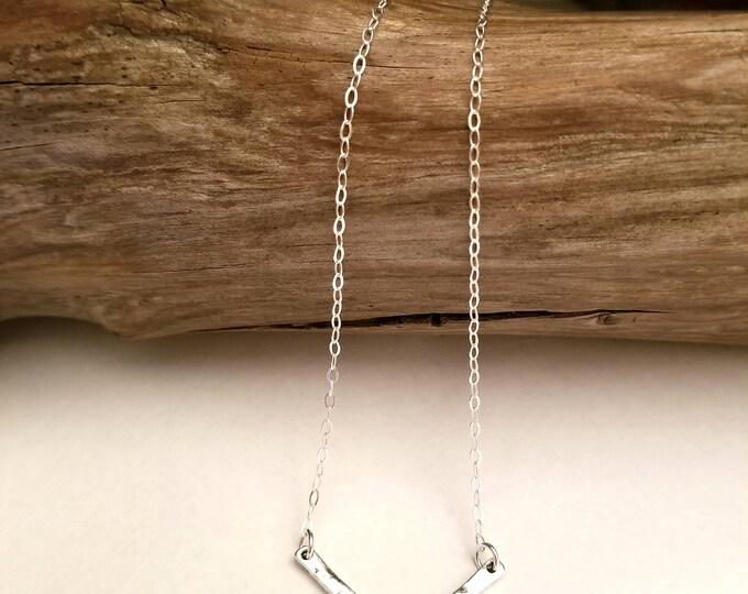 Silver Chevron Necklace