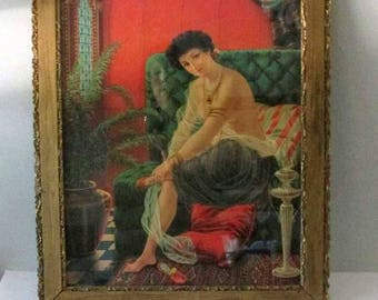 Antique frame and lithograph - Salome - Risque - Early 1900s - 23.5 x 19.5 - Gorgeous