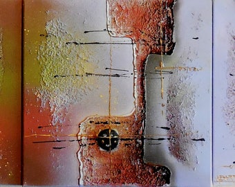 """Original Abstract Painting...""""La Strada""""...Textured Modern Wall Art Inspired by 50' Art...Road to Somewhere...Contemporary Acrylic Painting"""