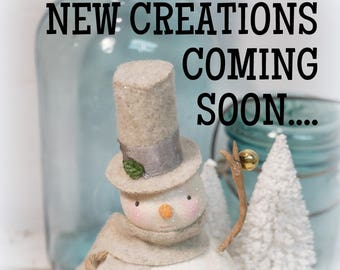 Cat and Fiddle Studio // New Creations // Hand Sculpted Folk Art // Vintage Inspired Holiday // Antique Holiday //