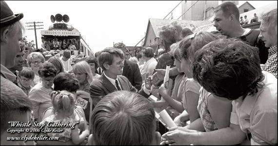 WHISTLE STOP GATHERING, Robert F. Kennedy, Clyde Keller 1968 Photo