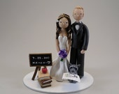 Teacher & Ophthalmologist Personalized Wedding Cake Topper - reserved for marisaeimer