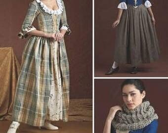 Misses 18th Century Highland Costume Pattern Plus Size 14 16 18 20 22 Scottish Renaissance colonial Skirt Bodice Simplicity 8161 UNCUT