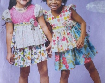Ruffles and Lace Treasure Collection Girls Top and Skirt Pattern  Mccalls M6688 Girls Ruffled Top Skirt Pattern  Childrens Girls Size 6 7 8