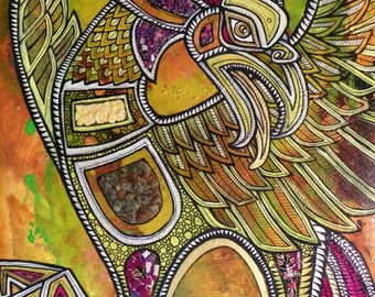 "Original ""Arise from Ashes"" Phoenix / Firebird Painting by Lynnette Shelley"