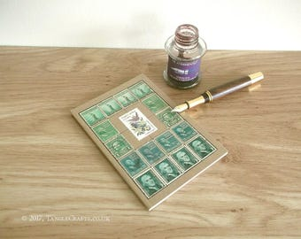 South Carolina State Bird & Flower Journal - Vintage USA Stamp Album Notebook