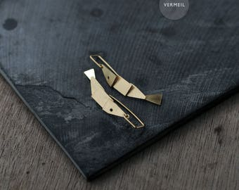 Articulated Silver or 18kt gold-plated Fish Earrings