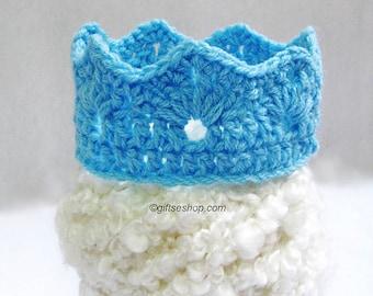 Crochet Crown Pattern, Crochet Tiara Pattern, Crochet Crown, Crochet Baby Crown, Prince Crown PDF N72